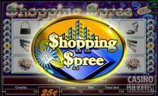 Shopping spree slots