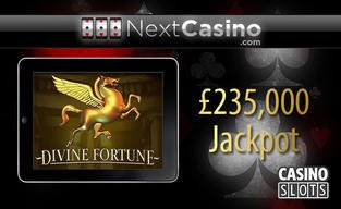 Players wins six figures on divine fortune at nextcasino